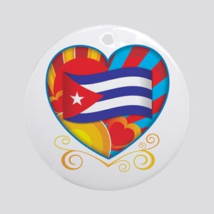 Cuban Heart Ornament (Round)