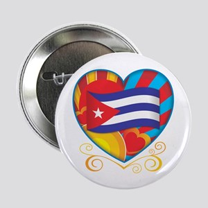 "Cuban Heart 2.25"" Button"