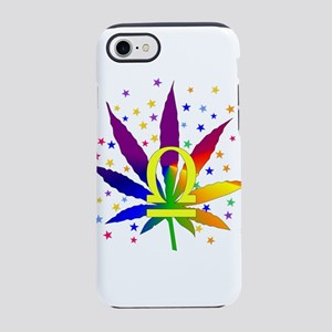 Rainbow Marijuana Libra iPhone 8/7 Tough Case