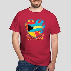 Bahamian Heart Dark T-Shirt