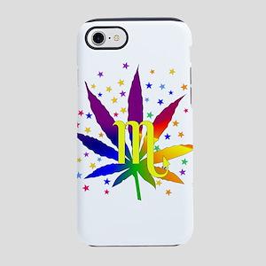 Rainbow Marijuana Scorpio iPhone 8/7 Tough Case