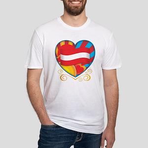Austrian Heart Fitted T-Shirt