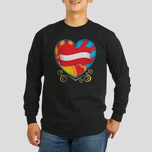 Austrian Heart Long Sleeve Dark T-Shirt
