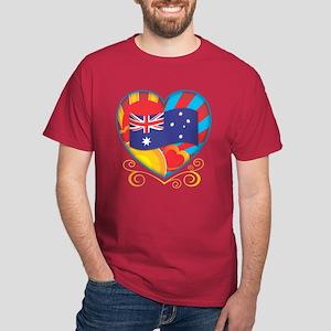 Australian Heart Dark T-Shirt