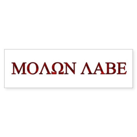"Molon Labe (""Come take them"") Bumper Sticker"