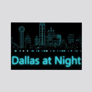 Dallas at Night Rectangle Magnet