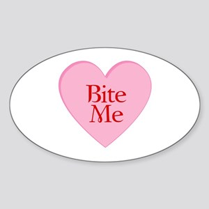Twilight Vampire Valentine Oval Sticker