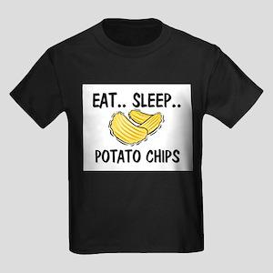 Eat ... Sleep ... POTATO CHIPS Kids Dark T-Shirt