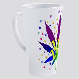 Rainbow Marijuana Aquarius 17 oz Latte Mug