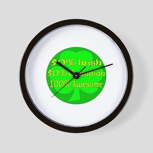 50% Irish 50% Canadaian 100% Wall Clock