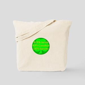 50% Irish 50% Canadaian 100% Tote Bag