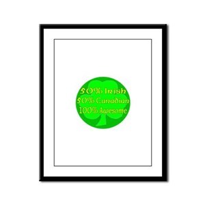 50% Irish 50% Canadaian 100% Framed Panel Print