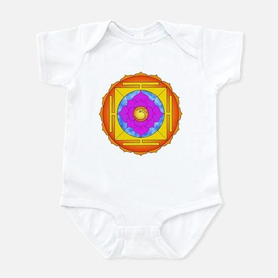 Om Lotus Yantra Infant Bodysuit
