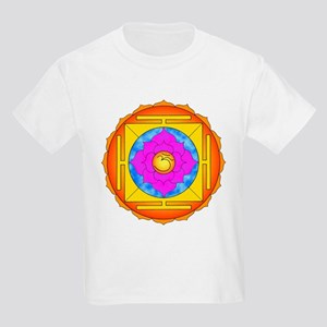 Om Lotus Yantra Kids Light T-Shirt