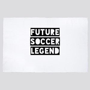 Kids Soccer Gift for Young Training Fu 4' x 6' Rug