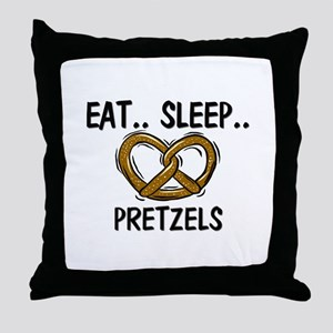 Eat ... Sleep ... PRETZELS Throw Pillow