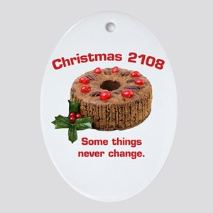Fruitcake Futures Oval Ornament