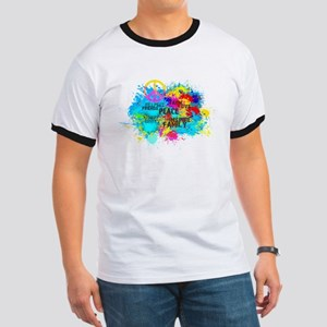 Splash Words of Good Peace T-Shirt