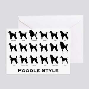 Poodle Styles: Black Greeting Card