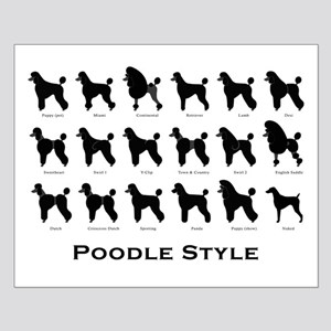 Poodle Styles: Black Small Poster