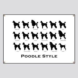 Poodle Styles: Black Banner
