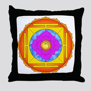 Om Lotus Yantra Throw Pillow