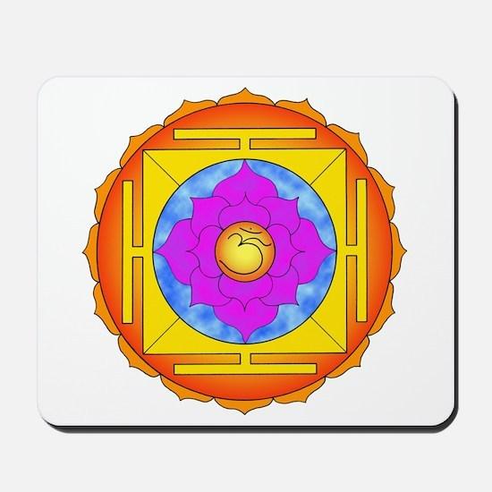 Om Lotus Yantra Mousepad