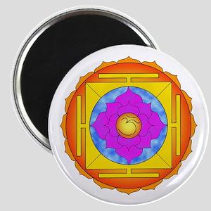 Om Lotus Yantra Magnet