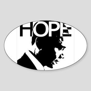 Obama hope Oval Sticker