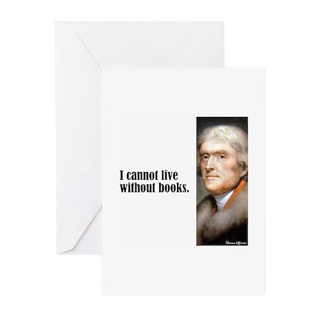 "Jefferson ""Books"" Greeting Cards (Pk of 10)"