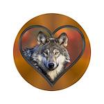 """Wolf Heart 3.5"""" Button"""