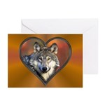 Wolf Heart Greeting Cards