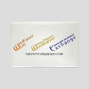 WOM, W3E, List Logos Rectangle Magnet