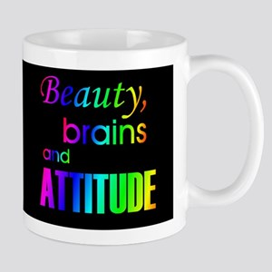 Rainbow Beauty, Brains and Attitude Mug