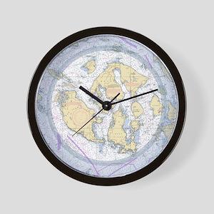 Nautical Chart Wall Clock