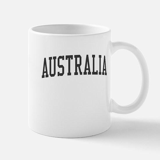 Australia Black Mug