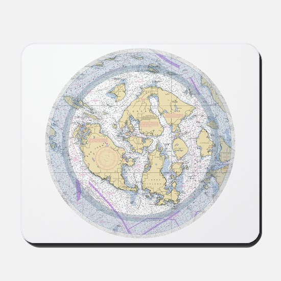 Nautical Sailing Chart Mousepad