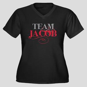 Team Jacob Women's Plus Size V-Neck Dark T-Shirt