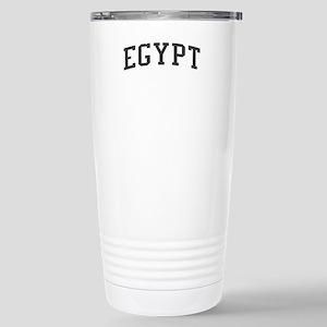 Egypt Black Stainless Steel Travel Mug