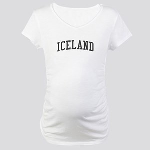 Iceland Black Maternity T-Shirt