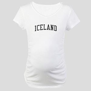 Iceland Black Maternity T-Shirt