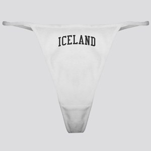 Iceland Black Classic Thong