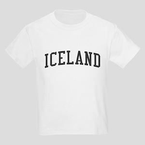Iceland Black Kids Light T-Shirt