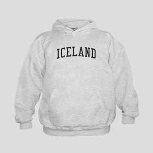 Iceland Black Kids Hoodie