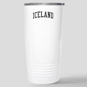 Iceland Black Stainless Steel Travel Mug