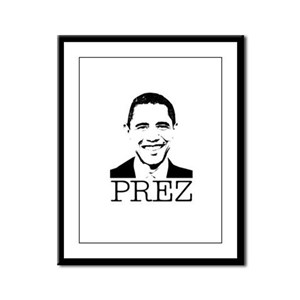 Barack Obama - Prez Framed Panel Print