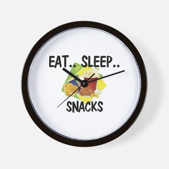 Eat ... Sleep ... SNACKS Wall Clock