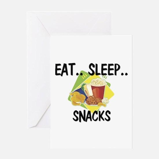 Eat ... Sleep ... SNACKS Greeting Card
