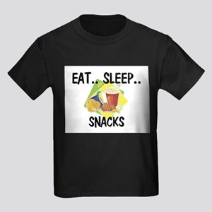 Eat ... Sleep ... SNACKS Kids Dark T-Shirt