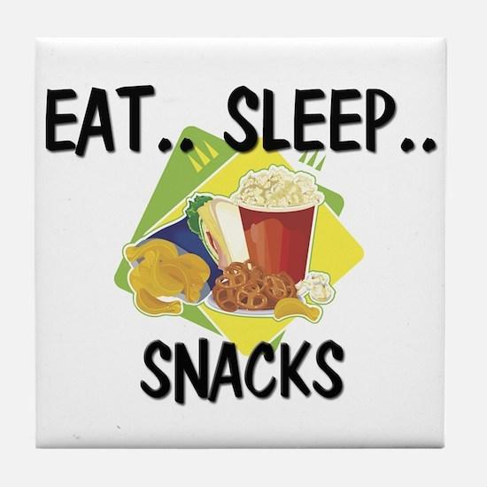 Eat ... Sleep ... SNACKS Tile Coaster